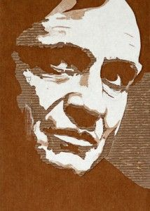 Cardboard Relief Portrait – Johnny Cash