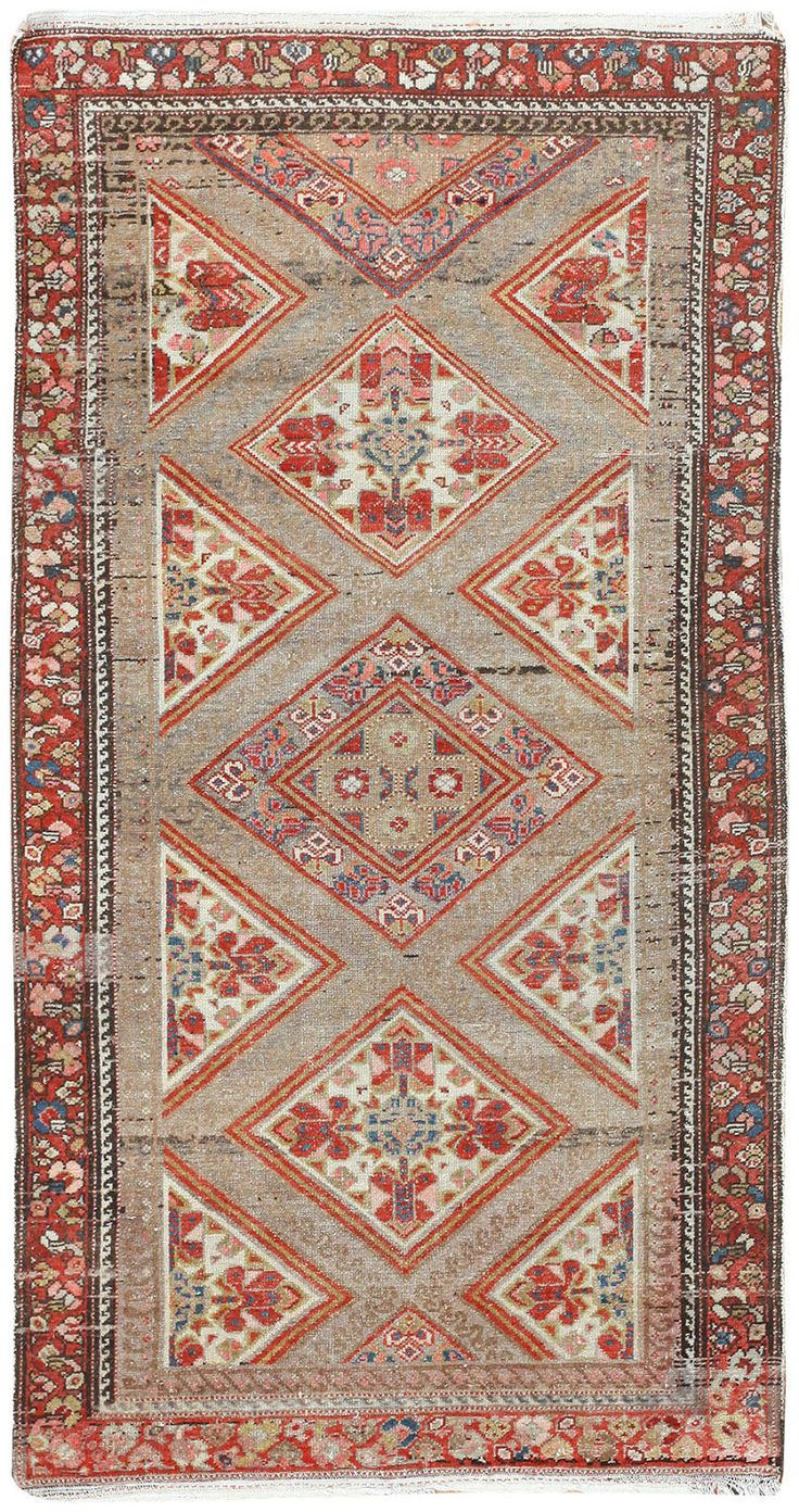 Antique Persian Serab Camel Hair Rug 50008 Lionel Serab