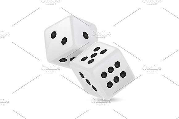 Vector game dices.  by gomolach on @creativemarket