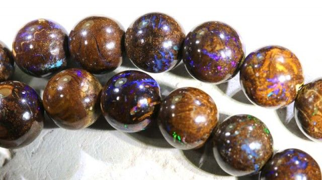357.50 CTS BOULDER OPAL BEADS OVAL DRILLED TBO-5010 boulder  opal beads, opal beads, opal necklaces