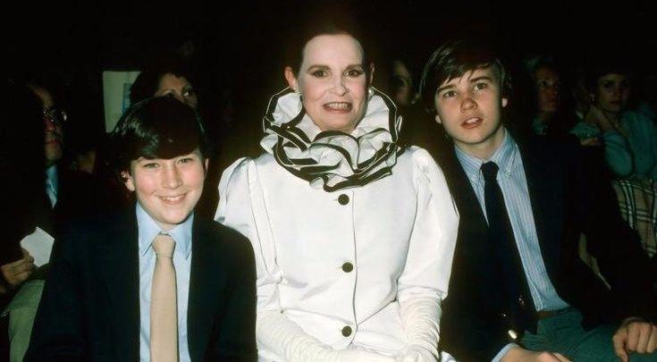 Anderson Cooper (L) with mother, Gloria Vanderbilt, and brother, Carter Cooper in 1980.