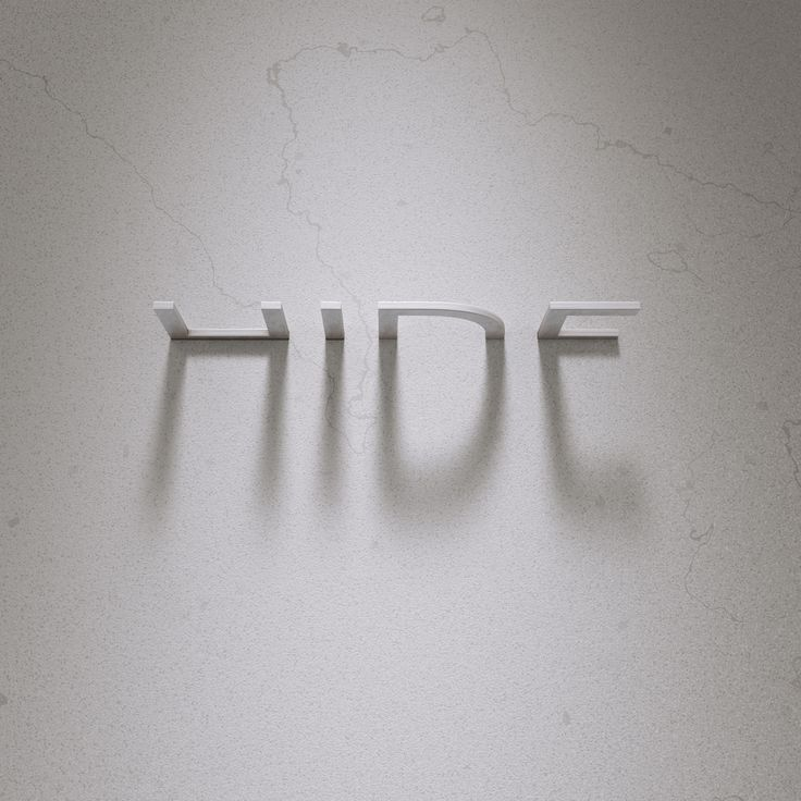 "typography: ""white hide"" (2017-03-21 by ateliermartini (via ello - the anti-FB social network, alongside Minds.com ; )"