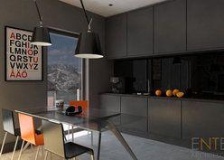 Czerń to więcej niż kolor, ENTE Architekci, #projekt #wnetrz #black #interior #modern https://www.domowy.pl/projekty-wnetrz/salon/czern-to-wiecej-niz-kolor-salon-i-jadalnia.html