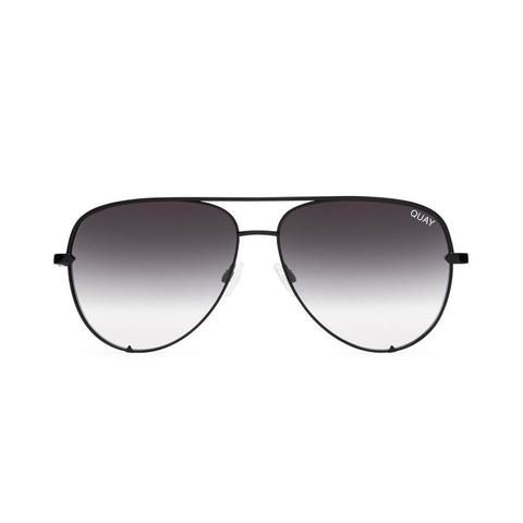 Quay Australia Desi | High Key Sunglasses in Black Smoke Fade Lens