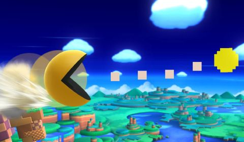 Main page for Super Smash Bros. for Nintendo 3DS / Wii U and Pac-Man. © 2014 Nintendo Original Game: © Nintendo / HAL Laboratory, Inc. Characters: © Nintendo / HAL Laboratory, Inc. / Pokémon. / Creatures Inc. / GAME FREAK inc. / SHIGESATO ITOI / APE inc. / INTELLIGENT SYSTEMS / SEGA / CAPCOM CO., LTD. / BANDAI NAMCO Games Inc. / MONOLITHSOFT / CAPCOM U.S.A., INC. / SQUARE ENIX CO., LTD.