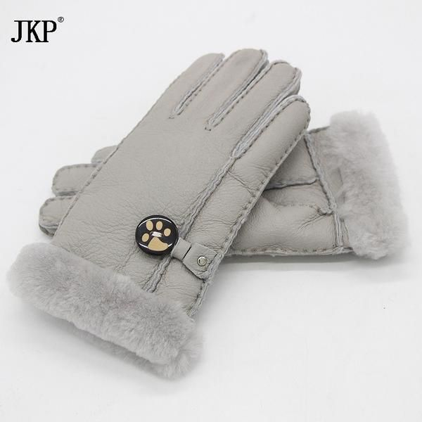 2017 winter leather gloves Russian lady gloves warm gloves sheepskin leather real wool… #BlackFriday is coming early #BestPrice #CyberMonday