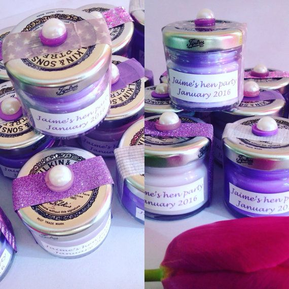 Mini candles, hen party gift, wedding favours, baby showers gift, stocking filler, personalised candles, assorted candles, This listing provides 10 units of mini jar candles for 10 guests, providing a unique & special keepsake from your ocassion. Be it baby shower, hen do or wedding favour these delightful little Eco soy candles can be customised to your colour theme and the label personalised with name and date! An assortment of scents will be provided from the following yummy flavours: ...
