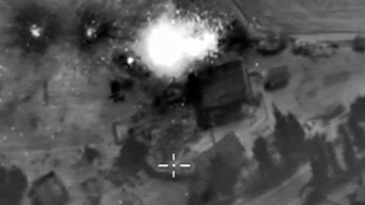 Russia has launched air strikes in Syria for a second day, targeting rebel positions in the north-west and centre of the country.