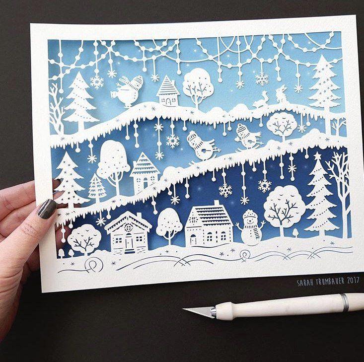 Вытынанки открытки новогодние, днем рождения