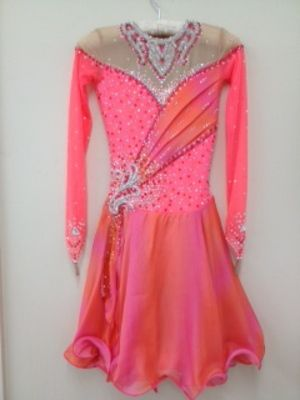 This dress would be perfect for ice dances! Maybe a purple/ black mix?