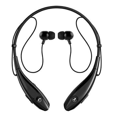SoundPEATS Bluetooth Headphones Wireless Headset Stereo Neckband Sport Earbuds with Mic (10 Hours Play Time Bluetooth 4.1 Sweatproof) - [Upgraded Version of Q900]