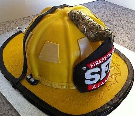 Fireman Helmet Cake   Shared by LION