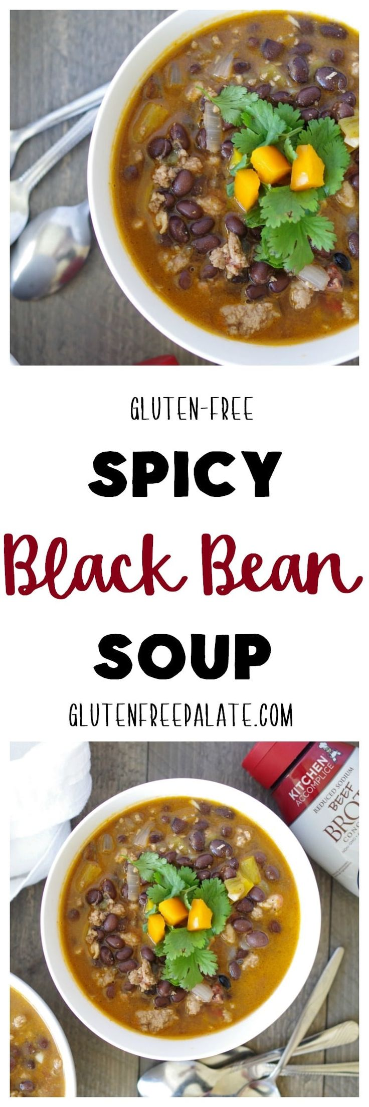 This Gluten-Free Spicy Black Bean Soup has a homey feel and a kick that will keep you coming back for more. Turn up the heat in your kitchen with this savory, spicy soup.