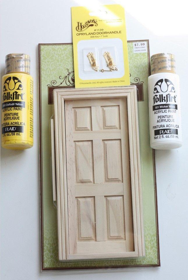 Make your own fairy door great idea for gifts expect for Homemade elf door