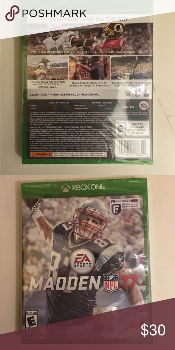 New unopened EA Madden NFL 2017 Brand new unopened Madden NFL 2017. Great holiday gift. Other