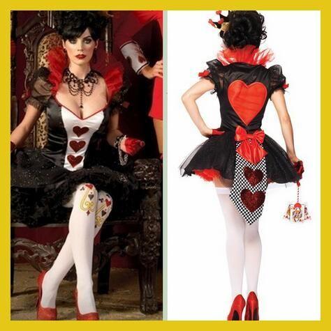 Best Seller Deguisement Halloween Sexy Queen Of Hearts Costume Women Cosplay Porm Queen Dress Las Vegas Rounders Costumes CE308