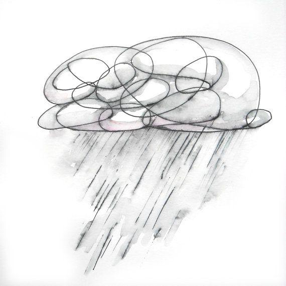 Rainy Tattoos Art: Best 20+ Rain Cloud Tattoos Ideas On Pinterest