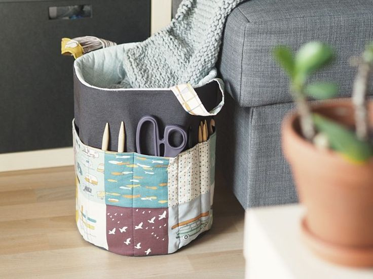 Tutorial fai da te: Realizzare un portatutto per il lavoro a maglia con tasche via DaWanda.com