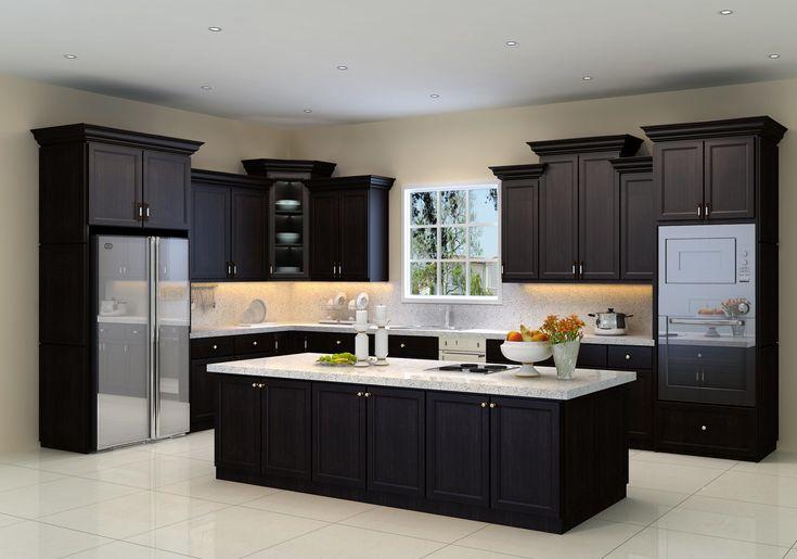 Matte Lacquer Natural Wood Colored Handle Free Kitchen Cabinets Di 2021 Tata Letak Dapur Model Dapur Dapur Modern