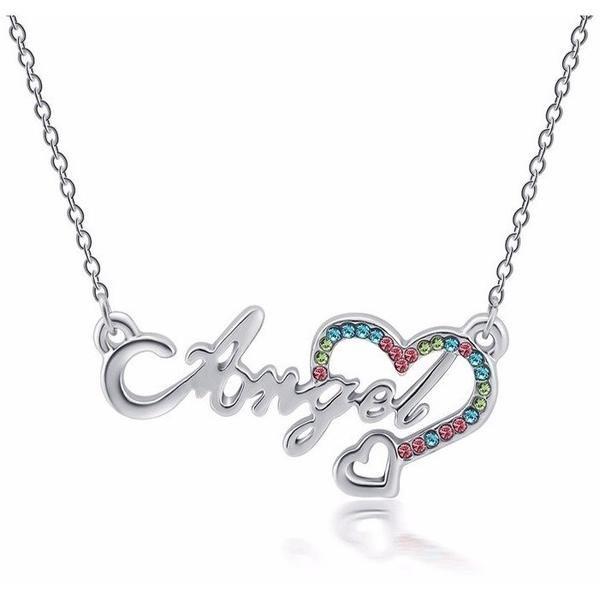 Vintage style necklaces & pendants Angel Heart  Necklace Summer statement Necklace