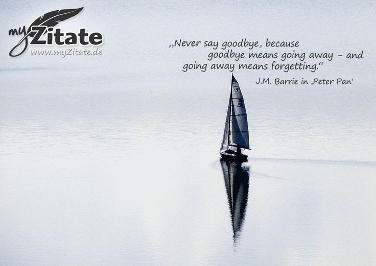 """""""Never say googbye, because goodbye means going away - and going away means forgetting.""""   - J.M. Barrie in 'Peter Pan'"""