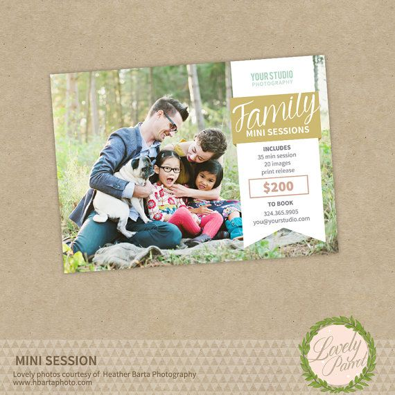Photography Mini Session Template Board by LovelyParrotDesigns, $8.00