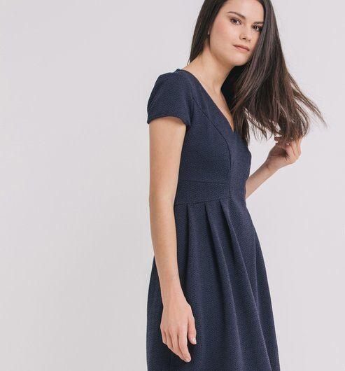 Robe jacquard Femme bleu , Promod