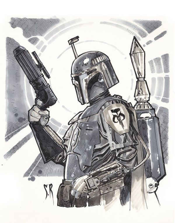 Boba-fett-Commission by *StephaneRoux on deviantART
