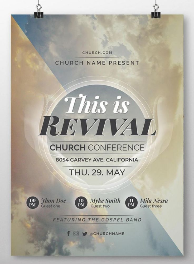 Explore Our Example Of Church Revival Flyer Template Flyer Template Flyer Design Templates Best Templates