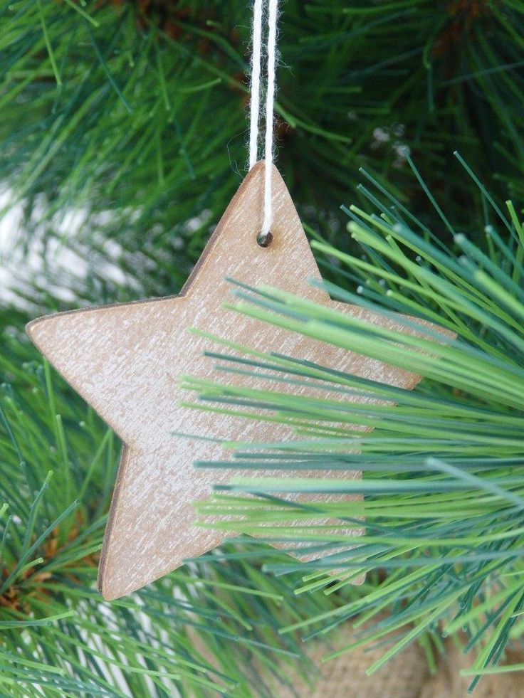 Timber Christmas Decorations - Star and Tree Shapes