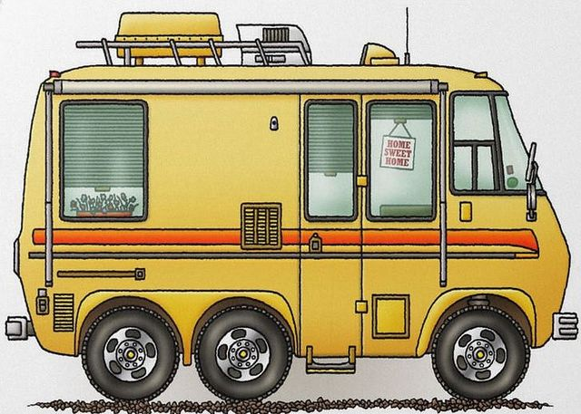 Whimsical GMC Motorhome (pinned by haw-creek.com)