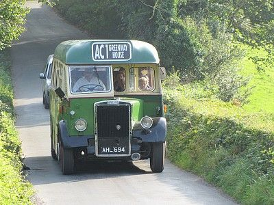 You can get this vintage green 1940s bus to Agatha Christie's house Greenway, near Brixham, South Devon