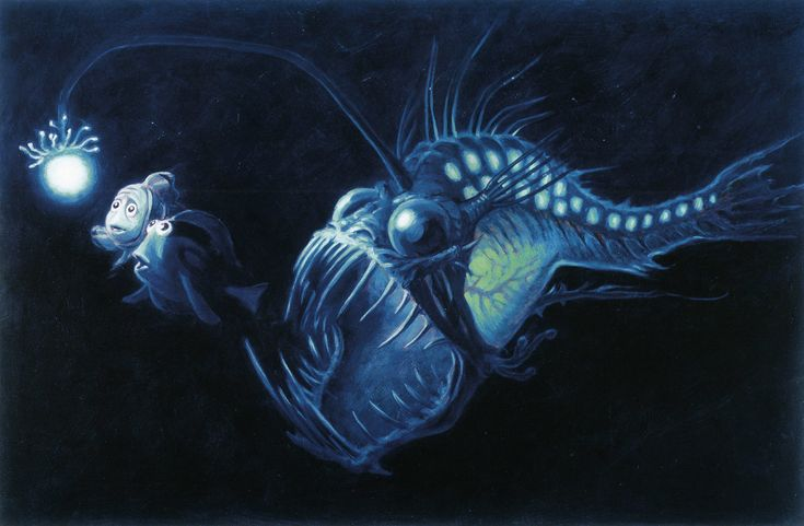 Finding nemo concept art animation character and for Finding nemo angler fish