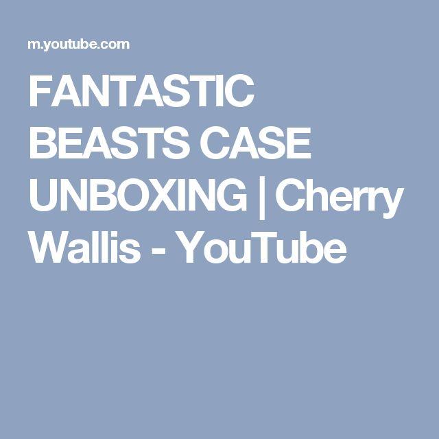 FANTASTIC BEASTS CASE UNBOXING | Cherry Wallis - YouTube