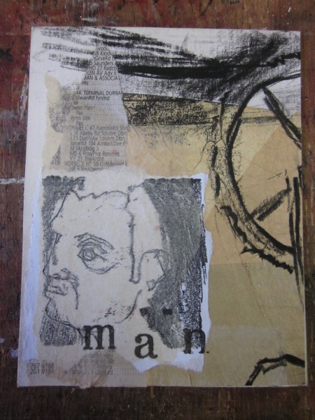 Mail for E in France, mixed media