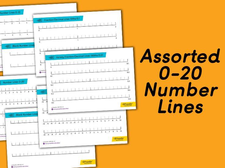 Assorted 020 Number Lines Number line, Negative numbers