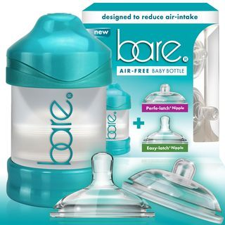 Bare Air-free Baby Bottles. Invented by a Mom to help other moms.