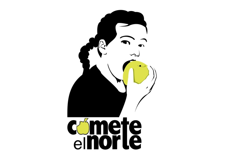 Logotipo de frutería Cómete el Norte