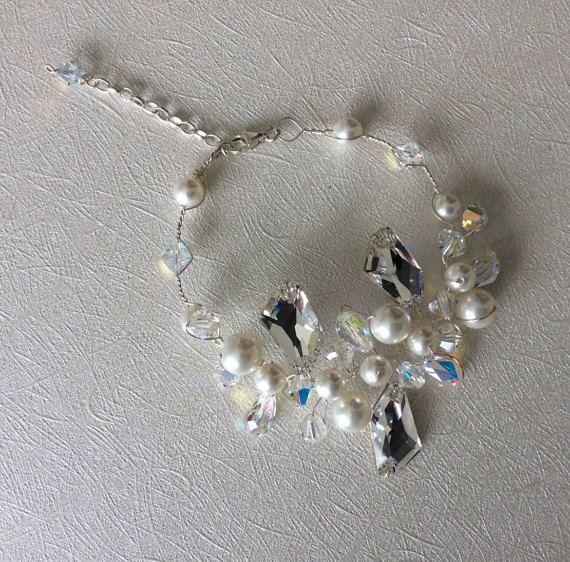 Bridal Bracelet Wedding Bracelet Bridal Jewelry by glamourbysonja