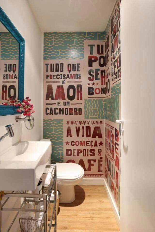 Idéia papel de parede com lambe lambe