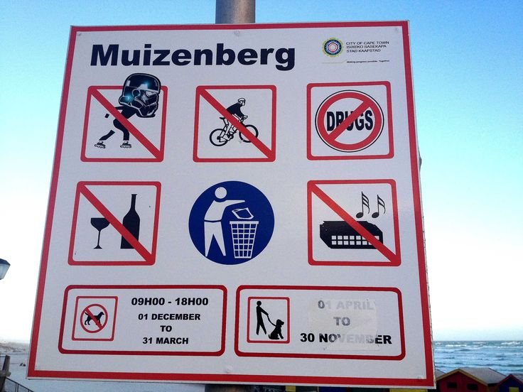 Muizenberg Promenade signage....no Darth Vader roller blading #muizenberg #streertart