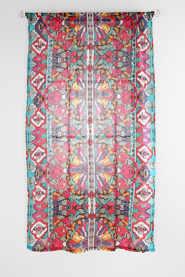 Magical Thinking Painted Eye Curtain From Urbanoutfitters A Pop Of Colour For The Neutral
