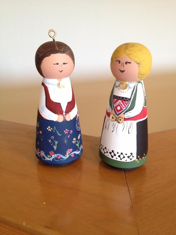 Norwegian Bunad Girl Ornament