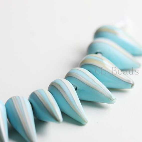Lampworked Glass Spikes - 4 Pieces