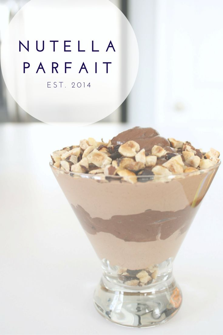 You can't go wrong with Nutella! Simple, quick nutella parfait dessert recipe.