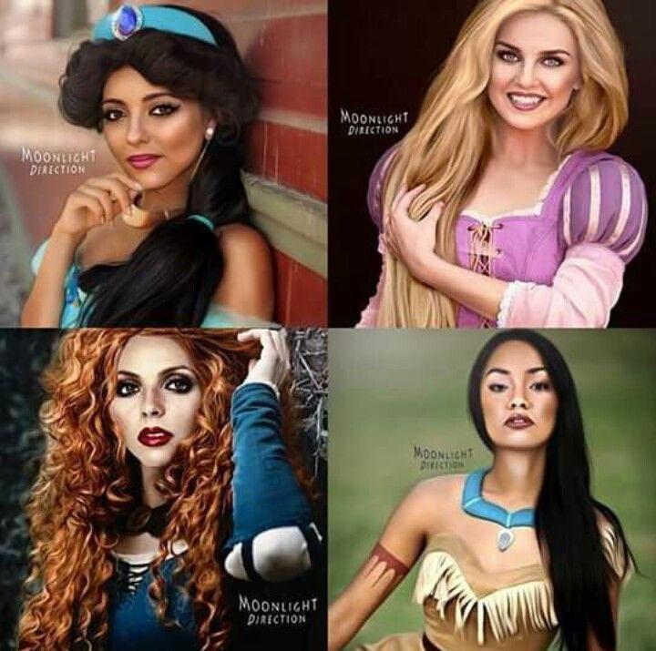 Jade as Jasmine Perrie as Rapunzel Jesy as Merieda  Leigh-Anne as Pocahontas