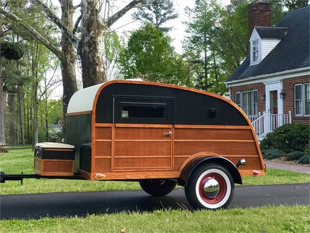 2020 Woody Teardrop 5x8 Camping Trailer Richmond Va In 2020 Camping Trailer Vintage Campers Trailers Camper Trailer For Sale