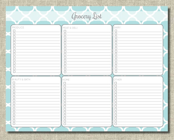 Grocery list printable and Grocery lists on Pinterest