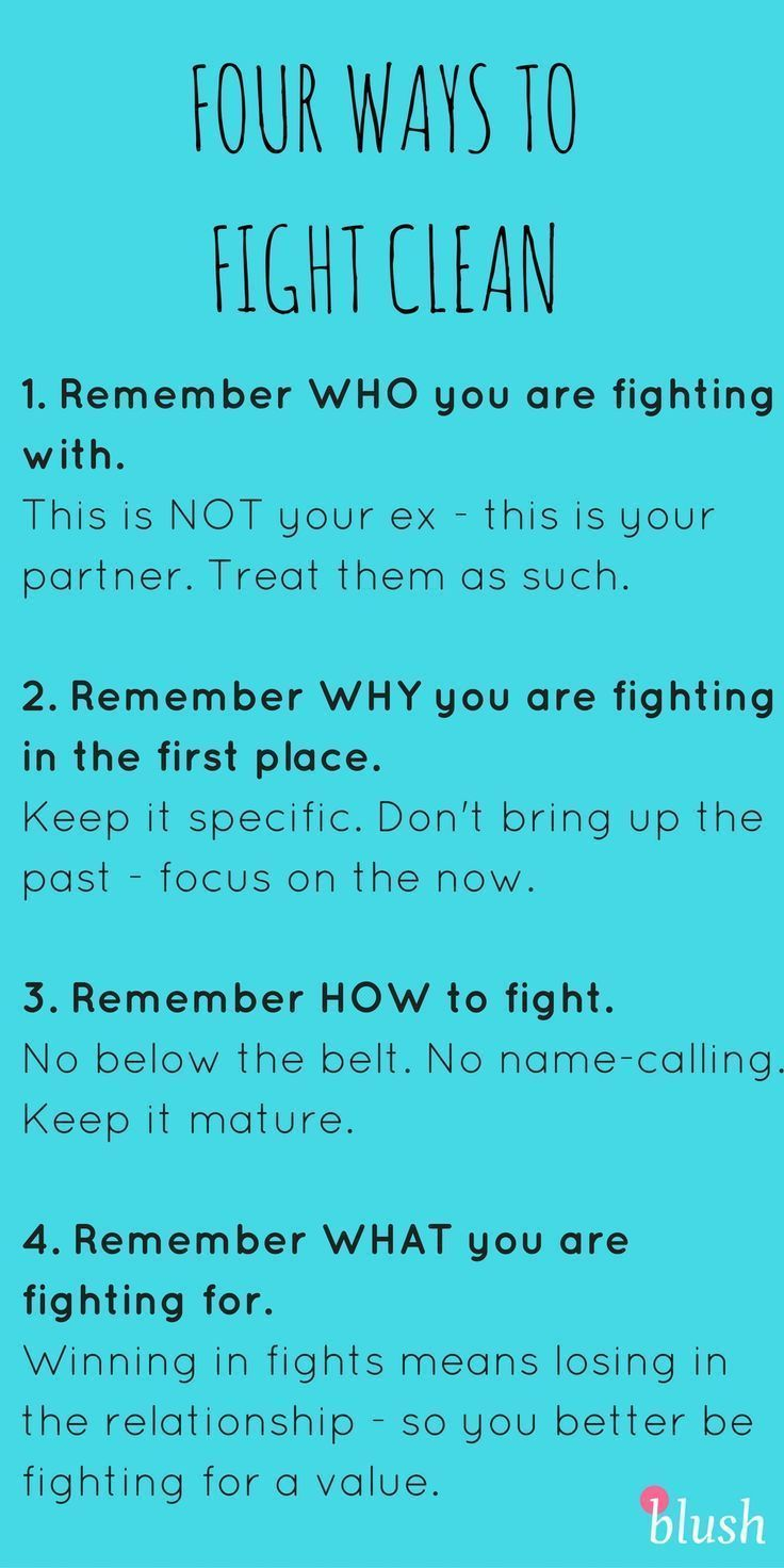Fighting in your relationship could make it much more difficult than it needs to be - so here are a few ways to fight CLEAN and bounce back from fights quickly!