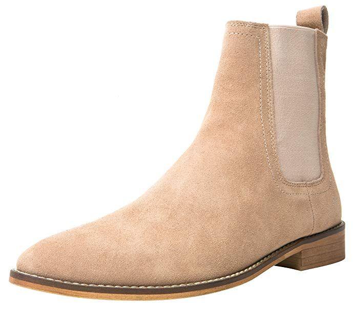 6885b52a15de8 Santimon Chelsea Boots Men Suede Casual Dress Boots Ankle Boots ...